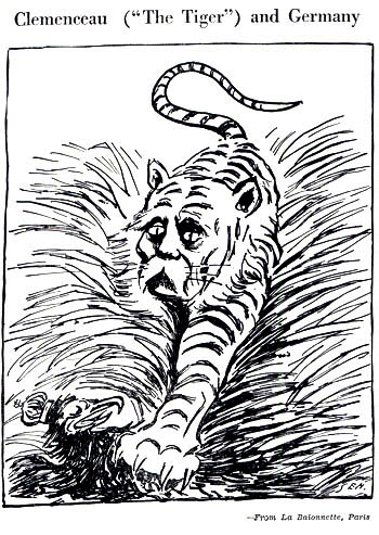 treaty of versailles cartoon. Clemenceau